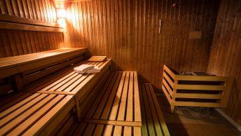 sauna en bois à poêle